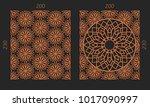 laser cutting set. woodcut...   Shutterstock .eps vector #1017090997