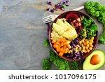 buddha bowl with quinoa ...   Shutterstock . vector #1017096175