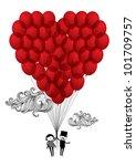 Heart Balloons Vector...