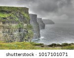 incoming storm on the cliffs of ... | Shutterstock . vector #1017101071