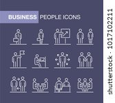 business people icons set... | Shutterstock .eps vector #1017102211