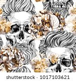 seamless pattern with image of... | Shutterstock .eps vector #1017103621