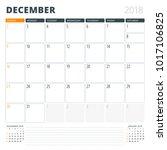 calendar planner for december...   Shutterstock .eps vector #1017106825