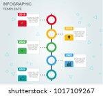 infographics timeline template... | Shutterstock .eps vector #1017109267
