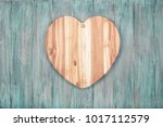 valentine handmade wooden love... | Shutterstock . vector #1017112579