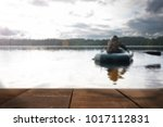 young man fishing blurred... | Shutterstock . vector #1017112831