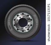 tire  tyre  wheel. high quality ... | Shutterstock .eps vector #1017113191