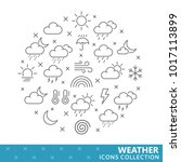 collection of weather thin line ... | Shutterstock .eps vector #1017113899
