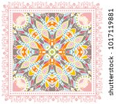 decorative colorful ornament on ... | Shutterstock .eps vector #1017119881