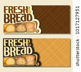 vector banners for bread with... | Shutterstock .eps vector #1017127951