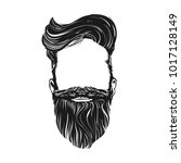 hair and beard  hipster... | Shutterstock .eps vector #1017128149