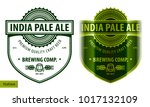 Beer label, modern style typographic template, beverage package design | Shutterstock vector #1017132109
