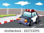 police vehicle on the road  ... | Shutterstock . vector #101713291