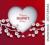 valentine's day holiday concept ... | Shutterstock . vector #1017134161
