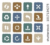 arrows icons. grunge color flat ...