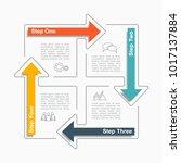 infographic template. vector... | Shutterstock .eps vector #1017137884