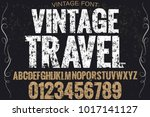 vintage font typeface... | Shutterstock .eps vector #1017141127