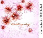 wedding card or invitation with ... | Shutterstock .eps vector #101714161