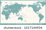 vintage political world map... | Shutterstock .eps vector #1017144934