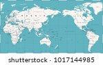 vintage political world map... | Shutterstock .eps vector #1017144985