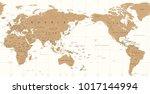 vintage political world map... | Shutterstock .eps vector #1017144994