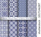 vector arabesque patterns set.... | Shutterstock .eps vector #1017146287