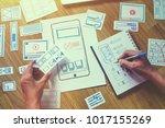 ux designer creative graphic... | Shutterstock . vector #1017155269