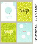 set of card templates   spring... | Shutterstock .eps vector #1017155284