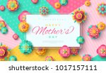 mother's day greeting card with ... | Shutterstock .eps vector #1017157111