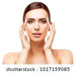 woman beauty portrait  model... | Shutterstock . vector #1017159085