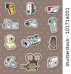 camera stickers | Shutterstock .eps vector #101716051