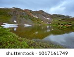pass lake  loveland pass ... | Shutterstock . vector #1017161749