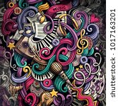 doodles musical illustration.... | Shutterstock . vector #1017163201