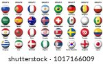 soccer or football ball nation... | Shutterstock .eps vector #1017166009
