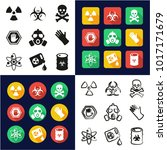 biohazard all in one icons... | Shutterstock .eps vector #1017171679