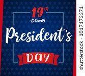 lettering presidents day... | Shutterstock .eps vector #1017173371