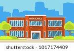 building high school of the... | Shutterstock .eps vector #1017174409