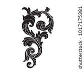 classical baroque vector of... | Shutterstock .eps vector #1017175381