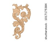 classical baroque vector of... | Shutterstock .eps vector #1017175384