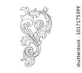 classical baroque vector of... | Shutterstock .eps vector #1017175399