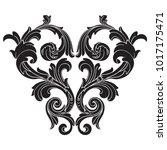 classical baroque vector of... | Shutterstock .eps vector #1017175471