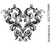 classical baroque vector of... | Shutterstock .eps vector #1017175489