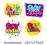 set of playroom kids colorful... | Shutterstock .eps vector #1017177619