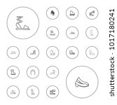 editable vector shoe icons ... | Shutterstock .eps vector #1017180241