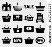 purchase icons. set of 16... | Shutterstock .eps vector #1017181225