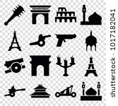 historic icons. set of 16... | Shutterstock .eps vector #1017182041