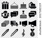 pictograph icons. set of 16... | Shutterstock .eps vector #1017182119
