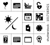 Day Icons. Set Of 13 Editable...