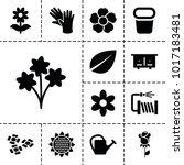 flower icons. set of 13...   Shutterstock .eps vector #1017183481