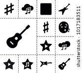song icons. set of 13 editable... | Shutterstock .eps vector #1017183511